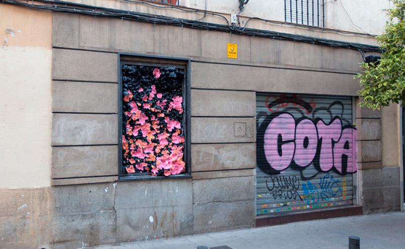 """""""15 Litros"""" de Carlos Macià. Exterior de la Galería L21-Madrid."""