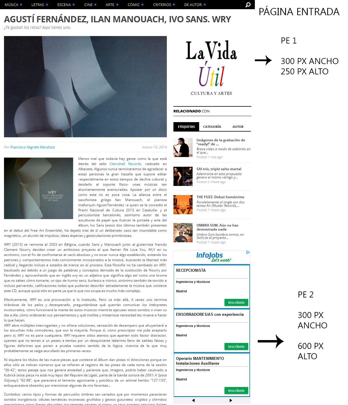 Publicidad página entrada