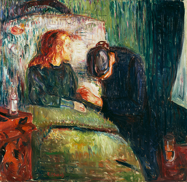 """""""La niña enferma"""", 1907."""